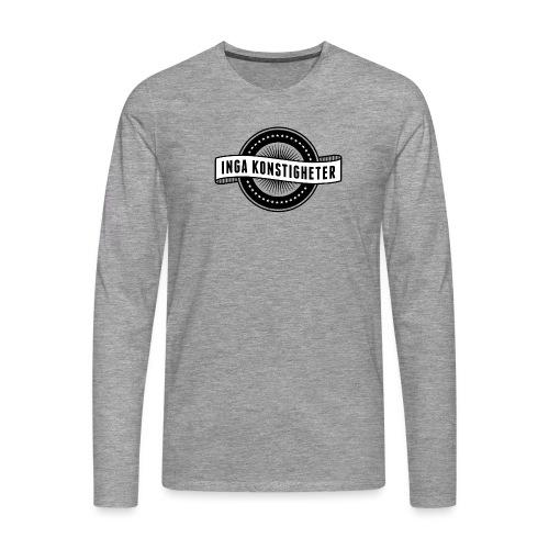 Inga Konstigheters klassiska logga (ljus) - Långärmad premium-T-shirt herr