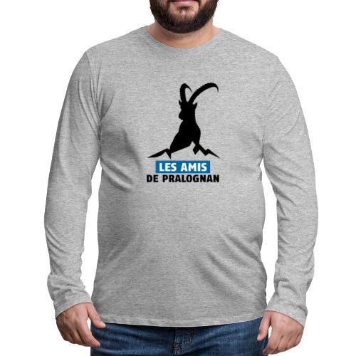 Logo Les Amis de Pralo grand noir - T-shirt manches longues Premium Homme
