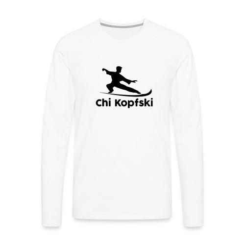 chi kopfski - Männer Premium Langarmshirt