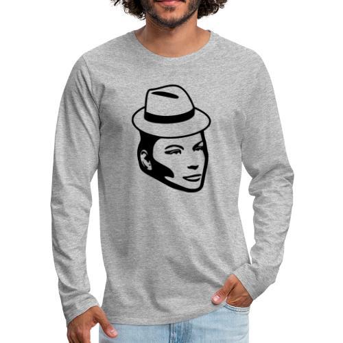 Frau mit Hut - Männer Premium Langarmshirt