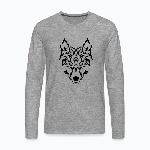 Tribal Wolf - T-shirt manches longues Premium Homme