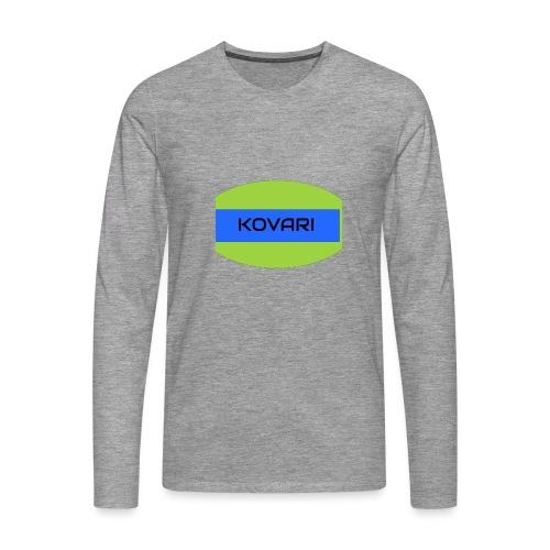 Kovari Logo - Miesten premium pitkähihainen t-paita