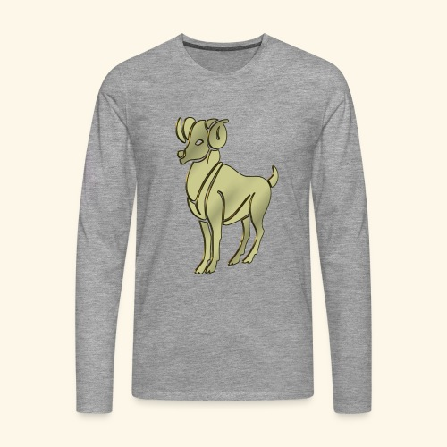 Aries the Ram Sign Birthday - Men's Premium Longsleeve Shirt