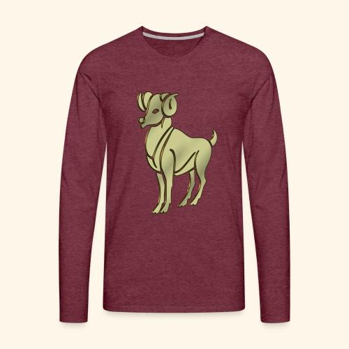 Aries the Ram Sign Birthday - Men's Premium Longsleeve Shirt