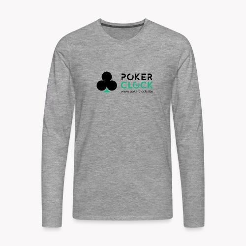 Poker Clock Logo - Männer Premium Langarmshirt