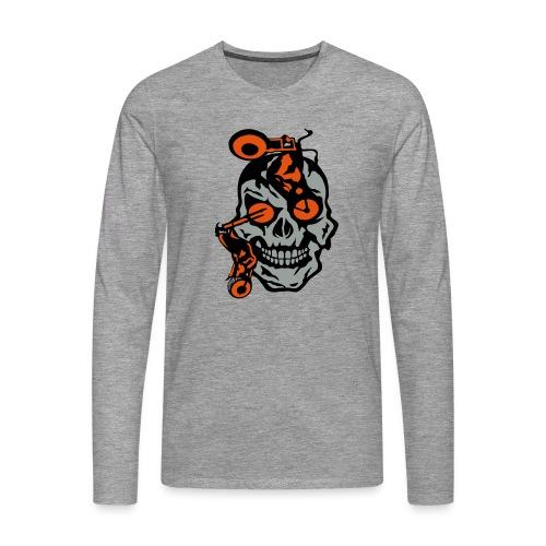 tete mort moto motrocycle oeil skull - T-shirt manches longues Premium Homme