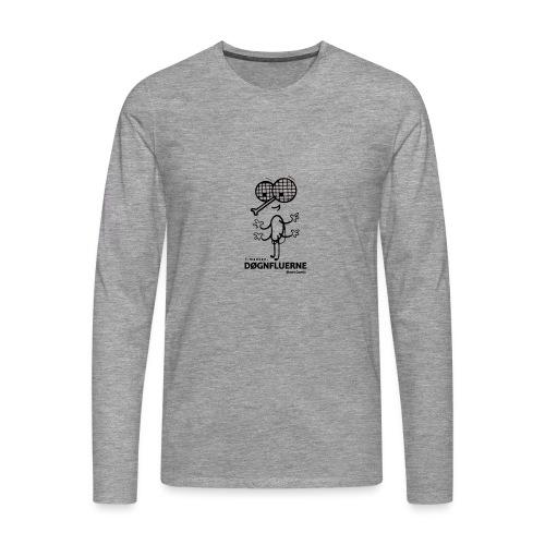 Døgnfluerne Short Comic Simpelt Logo Design. - Herre premium T-shirt med lange ærmer
