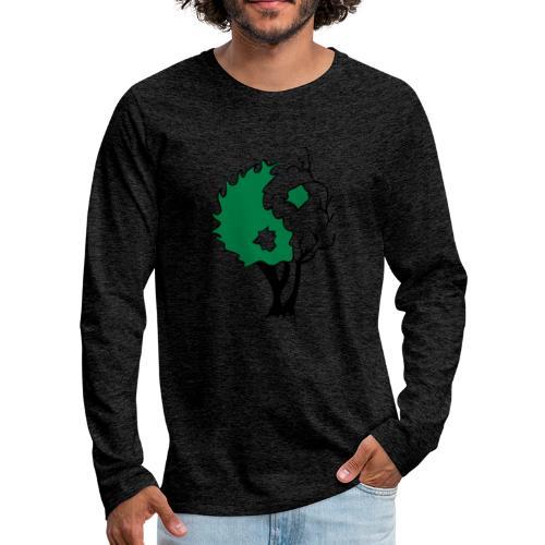 Yin Yang Arbre - T-shirt manches longues Premium Homme