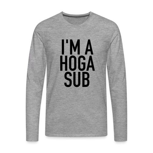 IMAHOGASUB - Premium langermet T-skjorte for menn