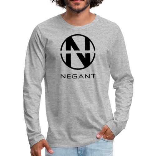 Black Negant logo - Herre premium T-shirt med lange ærmer