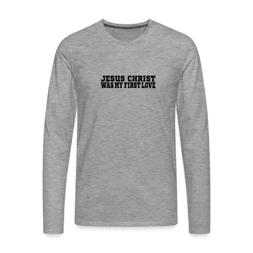 Jesus Christus Lieben - Männer Premium Langarmshirt