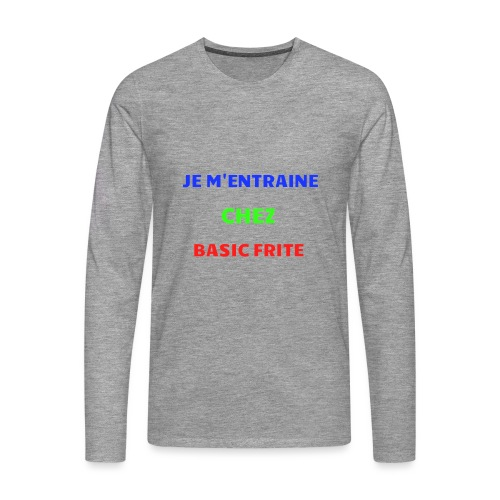 Basic Frite - T-shirt manches longues Premium Homme