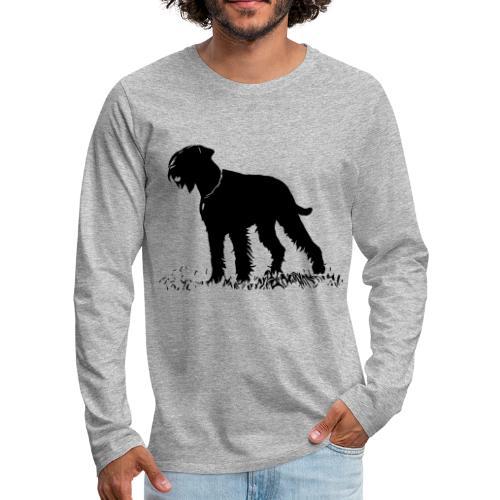 Riesenschnauzer / Schnauzer Hunde Design Geschenk - Männer Premium Langarmshirt