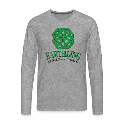 Earthling - Citizen of the World - Långärmad premium-T-shirt herr