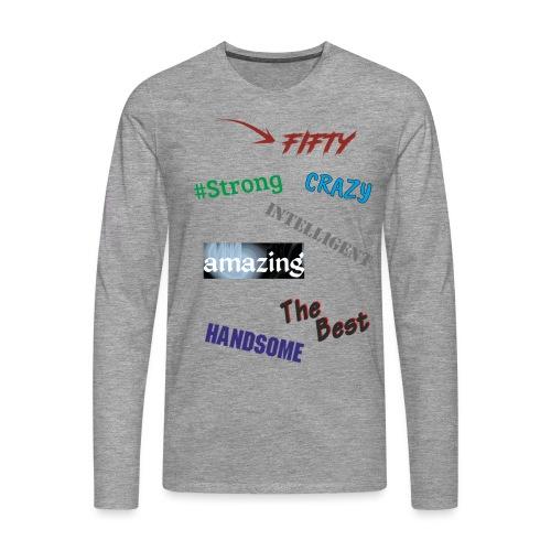 Tylko zalety - Koszulka męska Premium z długim rękawem