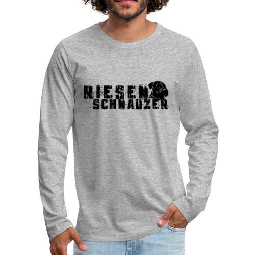 Riesenschnauzer/ Schnauzer Hunde Design Geschenk - Männer Premium Langarmshirt