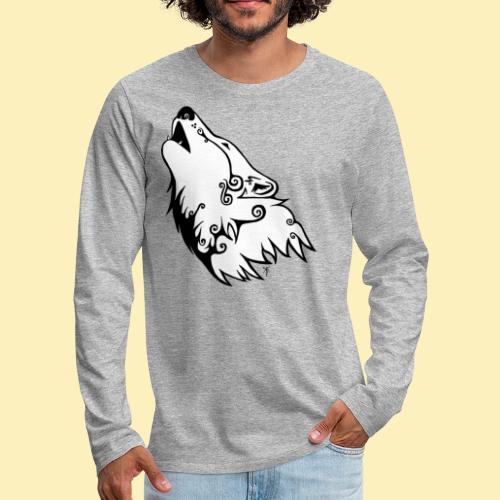 Le Loup de Neved (version blanche) - T-shirt manches longues Premium Homme