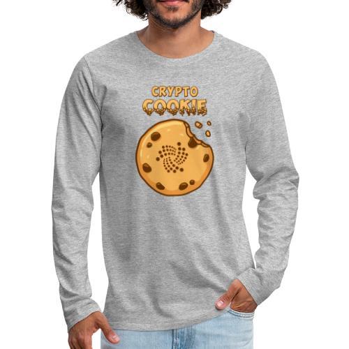 Crypto Cookie - IOTA - BTC, Bitcoin - Keks - Männer Premium Langarmshirt
