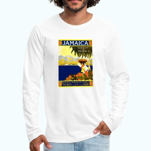 Jamaica Vintage Travel Poster - Men's Premium Longsleeve Shirt
