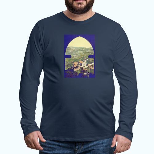 Tuscany vintage travel poster - Men's Premium Longsleeve Shirt