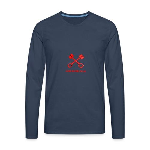 Bäcks bilverkstad - Långärmad premium-T-shirt herr