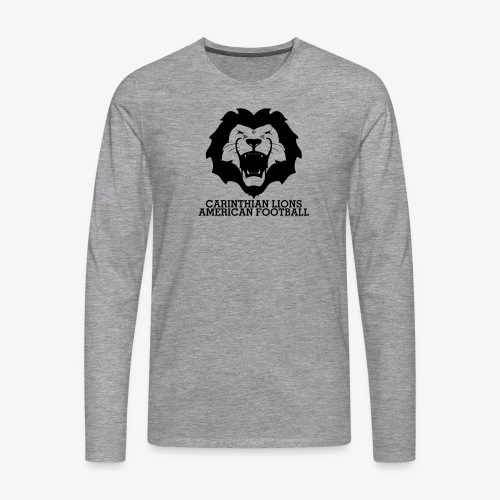AllBlackLionsHead_Schrift - Männer Premium Langarmshirt