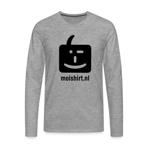 moi shirt back - Mannen Premium shirt met lange mouwen