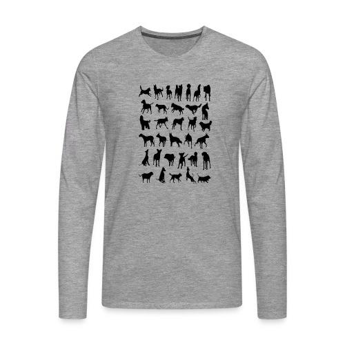 - Dogies - - Camiseta de manga larga premium hombre
