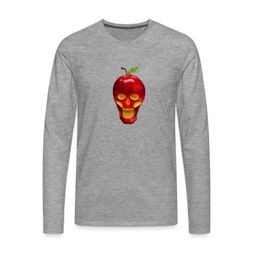 Apple Skull - Männer Premium Langarmshirt