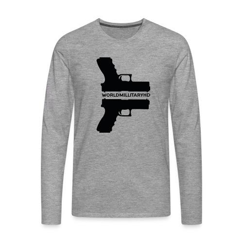 WorldMilitaryHD Glock design (black) - Mannen Premium shirt met lange mouwen