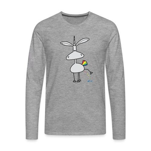 Dru - bunt pinkeln - Männer Premium Langarmshirt