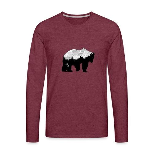 Geometric Mountain Bear - Maglietta Premium a manica lunga da uomo