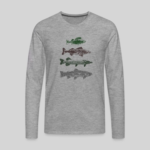 Lake - Miesten premium pitkähihainen t-paita
