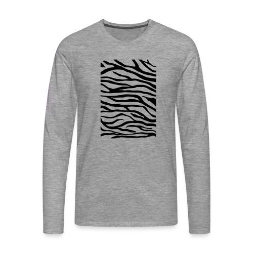 zebra v6 - Mannen Premium shirt met lange mouwen