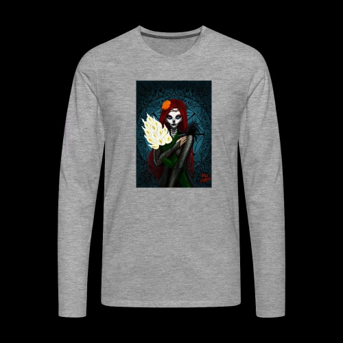 Death and lillies - Men's Premium Longsleeve Shirt