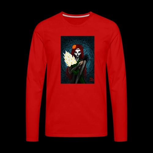Death and lillies - Men's Premium Longsleeve Shirt