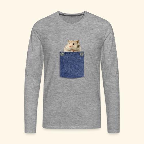 hamster in the poket - Maglietta Premium a manica lunga da uomo