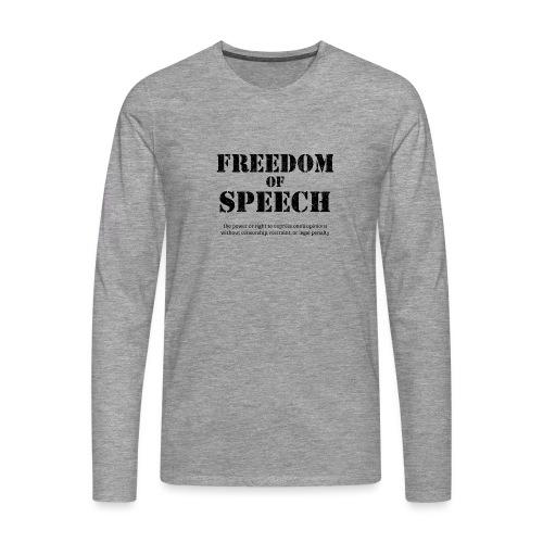 Freedom of speech - Koszulka męska Premium z długim rękawem