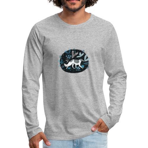 Barsoi im Mitternachtswald - Männer Premium Langarmshirt