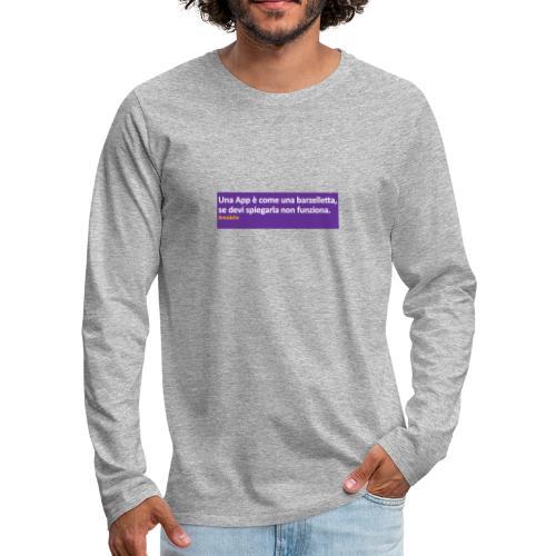 barzelletta - Maglietta Premium a manica lunga da uomo