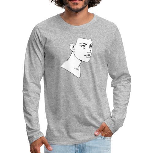 Girl Face - T-shirt manches longues Premium Homme
