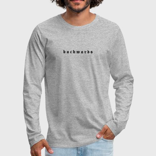 Backwards - Mannen Premium shirt met lange mouwen