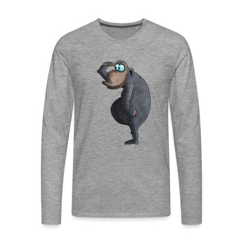 cooler Affe - Männer Premium Langarmshirt