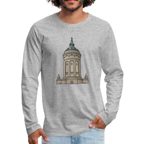 Wasserturm Mannheim c - Männer Premium Langarmshirt
