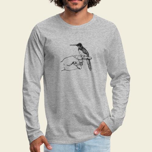 Kolibri Hand - Männer Premium Langarmshirt