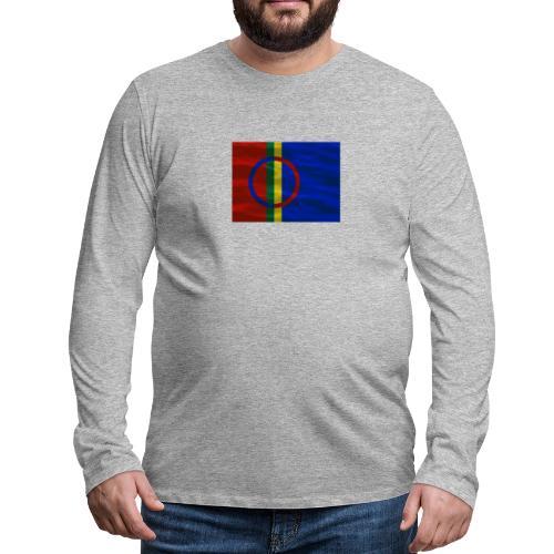 Sapmi flag - Premium langermet T-skjorte for menn