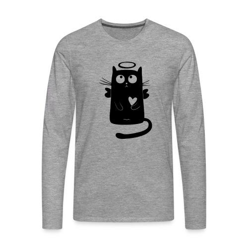 Katzengel - Männer Premium Langarmshirt
