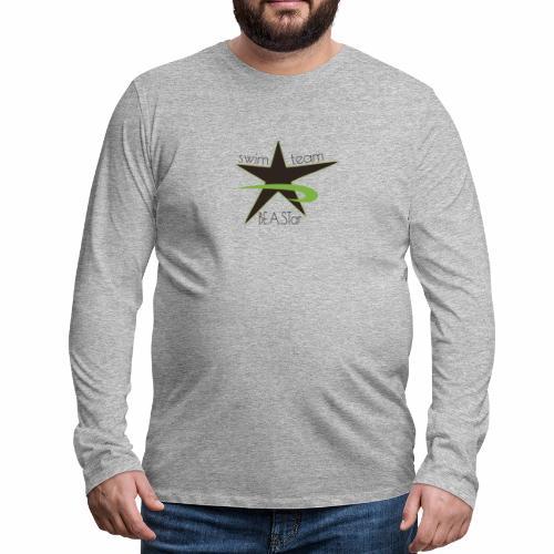BeAStar BeAStar noStar grey green - Männer Premium Langarmshirt