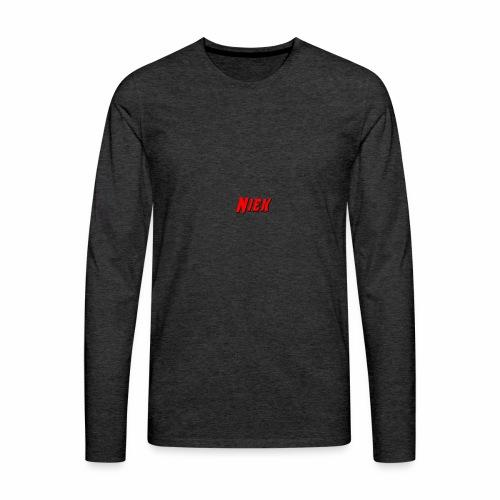 Niek Red - Mannen Premium shirt met lange mouwen