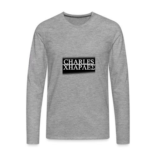 CHARLES CHARLES BLACK AND WHITE - Men's Premium Longsleeve Shirt